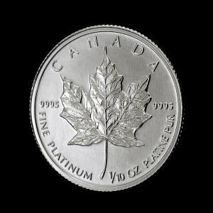 メイプル プラチナ コイン 白金 プラチナ コイン 白金 1/10 オンス カナダ王室造幣局 メイプルリーフ 1991年製 osp|spacein