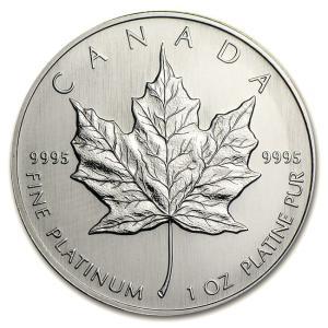 メイプルプラチナコイン 1/4オンス 1994年製  カナダ王室造幣局発行|spacein