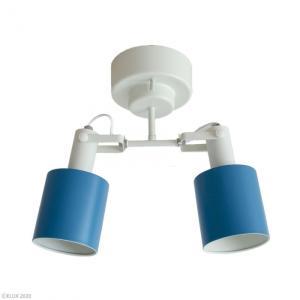 送料無料 ELUX(エルックス) REVO(レヴォ) 2灯シーリングスポットライト ブルー LC10971-BL