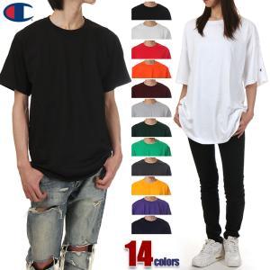 チャンピオン Tシャツ 半袖 メンズ レディース CHAMPION 大きいサイズ 袖ロゴ 無地 USAモデル ブランド ストリート 白 黒 綿100%
