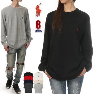 ラルフローレン 長袖 Tシャツ メンズ RALPH LAUREN サーマル ロンT 大きいサイズ USAモデル アメカジ スポーツ USA ブランド ファッション グレー 黒 白 迷彩