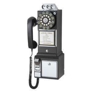 50sアメリカ公衆電話 PAY PHONE ブラック spec-ssstore