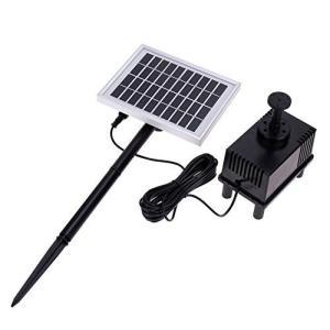 太陽光を仕様するから電気代がかからないうえに省エネ!ソーラーファン池ポンプ◇FS-SP002-S spec-ssstore