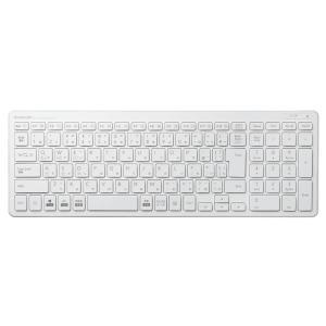 エレコム キーボード  Bluetooth コンパクト テンキー付き パンタグラフ 薄型  Windows・Mac・iOS・Android対応 ホワイト TK-FBP101WH spec-ssstore