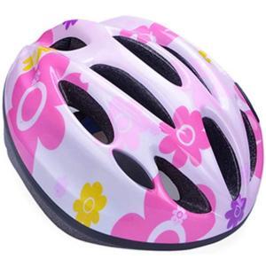 YRINA 子供用 ヘルメット 自転車 キッズ プロテクター セット or 単品 軽量 サイズ調整可 男の子 女の子 サイクリング (14.ピンクの花単品(Mサイズ)) spec-ssstore