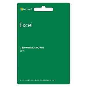 Microsoft Excel 2019(最新 永続版)|カード版|Windows10mac対応|PC2台|spec-ssstore