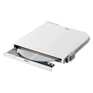 BUFFALO USB3.1(Gen1)3.0 外付け DVDCDドライブ バスパワー Wケーブル(給電ケーブル付き) 薄型ポータブル  WindowMac ホワイト DVSM-PTV8U3-WHN spec-ssstore