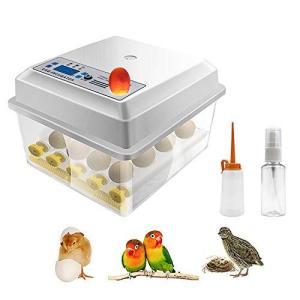 Safego 自動孵卵器 孵卵機 うずら 孵化器 インキュベーター 16卵 簡単操作 デジタル表示 自動温度制御 湿度保持 子供教育用 家庭用 電子版日本語説明書|spec-ssstore