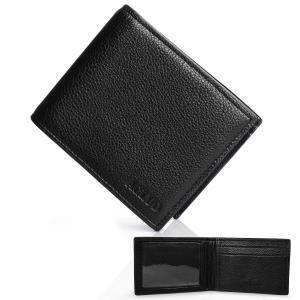 高級 牛革 二つ折り 財布 メンズ 小銭入れなし 本革 14枚カード収納 大容量 定期入れ パスケース ACLUO spec-ssstore