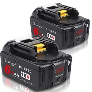 2個 Waitley マキタ BL1860 18V 互換 バッテリー 6.0Ah 6000mAh BL1830 BL1840 BL1850 BL1890 対応 リチウムイオンバッテリMakita互換電池 電動工具電池 残量指 spec-ssstore