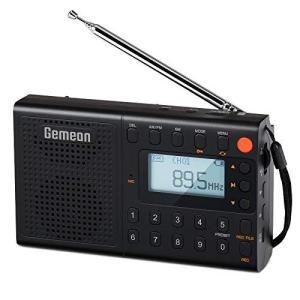GemeanJ-401 FMAMSWデジタル携帯ラジオ ポータブル ラジオ 高感度受信「プレセット機能、録音付き」短波ラジオ 充電式大容量リチウム電池 歌詞表示とダブルスピ spec-ssstore