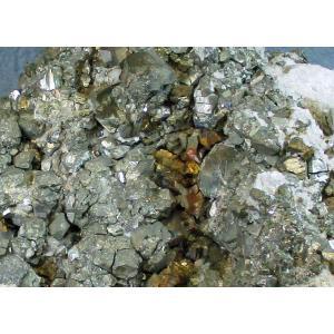 PYRITE(黄鉄鉱・重晶石・黄銅鉱)秋田県尾去沢鉱山blapiz-0536 specimen-lapiz