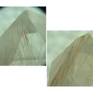 ルチルクオーツの研磨ポイント3005 specimen-lapiz
