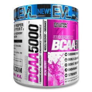 BCAA 5000 アサイーベリー 240g 8.5oz 《約30回分》EvLution Nutrition エボリューションニュートリション speedbody