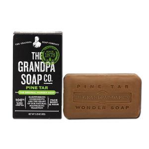 Grandpa's オリジナルワンダーソープ 松ヤニ固形石鹸 フェイス&ボディ&ヘア 92g(3.25oz) グランパ|speedbody