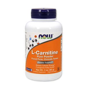 L-カルニチン 100%ピュアパウダー 85g NOW Foods(ナウフーズ)|speedbody