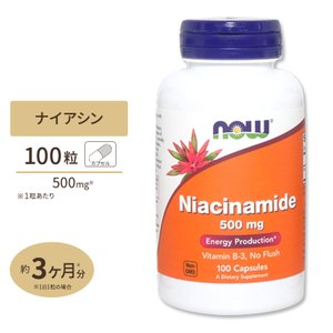 ナイアシンアミド B-3 500mg 100粒 NOW Foods ナウフーズ|speedbody