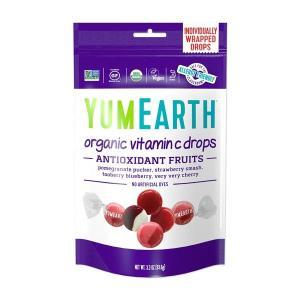 YumEarth オーガニック ビタミンC ドロップス アンチオキシフルーツ 3.3 oz 93.5...
