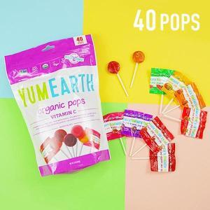 YumEarth オーガニックポップス ビタミンC フレーバー詰め合わせ 40本 8.5 oz 24...