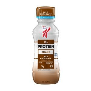 【在庫一掃セール】Kellogg's ケロッグ スペシャルK プロテインシェイク ミルクチョコレート 4本入り 296ml|speedbody