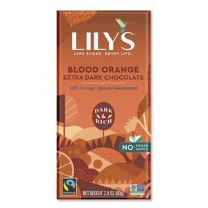 【在庫一掃セール】Lily's ブラッドオレンジ ローカーボ ダークチョコレート 2.8oz 4枚入り|speedbody