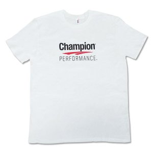 T-Shirt White Free Size チャンピオン Champion Performance Tシャツ トレーニングウェア 普段着 speedbody