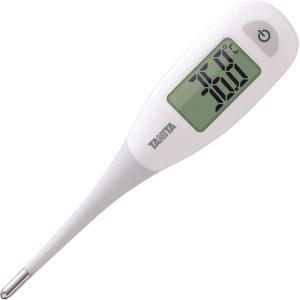 [在庫有]タニタ 電子体温計 BT-471-WH ホワイト 乳幼児や要介護者の脇にも当てやすい