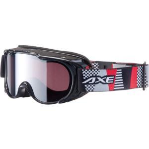 AXE(アックス) ジュニア スノーゴーグル UVカット AX270WMD ブラック|spg-sports