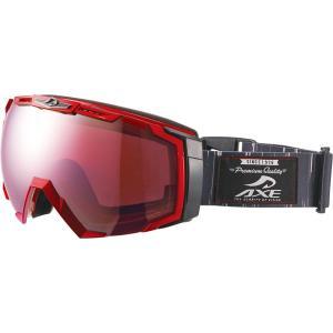 AXE アックス   メンズ  スノーゴーグル UVカット AX770WCM メタリックレッド|spg-sports