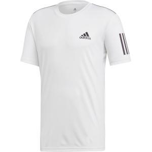 adidas(アディダス) TENNIS CLUB 3ST TEE FRW68 WHT/BLK|spg-sports