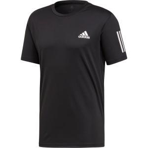 adidas(アディダス) TENNIS CLUB 3ST TEE FRW68 BLK/WHT|spg-sports