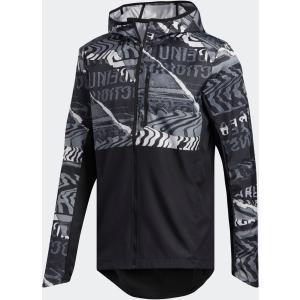 adidas アディダス  OWN THE RUN グラフィックジャケット メンズ ランニング FYR58 BLK/GRYワン/GR spg-sports