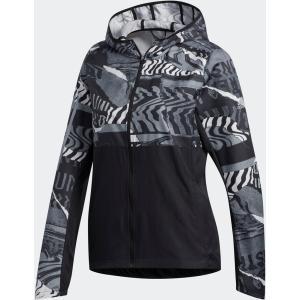 adidas アディダス  OWN THE RUN グラフィックジャケット W レディース ランニング FYT23 BLK/GRYワン/GR spg-sports