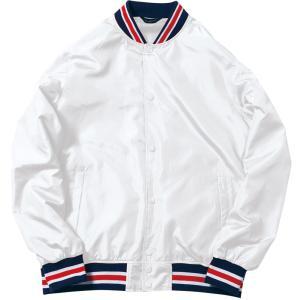 BONMAX ボンマックス   男女兼用・ジュニア カジュアルウェア  スタジアムジャケット  MJ0069 ホワイト spg-sports