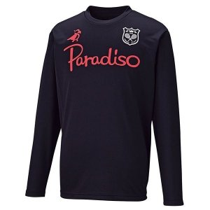 PARADISO(パラディーゾ) ユニセックス プラクティスシャツ 55C01F ブラック|spg-sports
