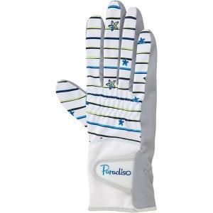 PARADISO パラディーゾ  レディース 硬式テニス グローブ 両手用  手のひら側穴あきタイプ BACV16 WL|spg-sports