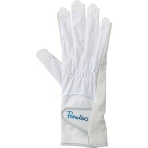 PARADISO パラディーゾ  テニスグローブ 高グリップシリーズ/ネイルスルー レディース BACV21 ホワイト|spg-sports
