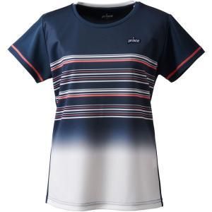 Prince プリンス  ゲームシャツ レディース テニス・バドミントンウェア TML174T NVY|spg-sports
