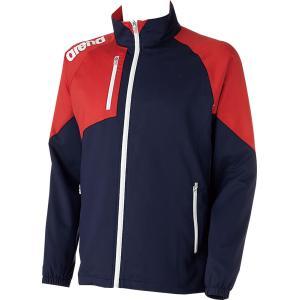 ARENA(アリーナ) クロスジャケット ARN4300 Dネイビ/レッド|spg-sports