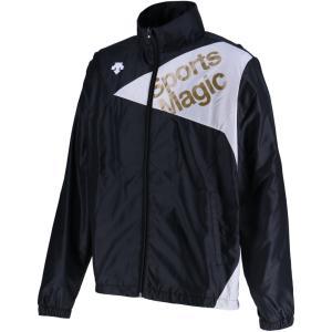 デサント(DESCENTE) ウィンドブレーカージャケット 裏起毛 男女兼用 ユニセックス DAT3865 ブラック/ホ|spg-sports