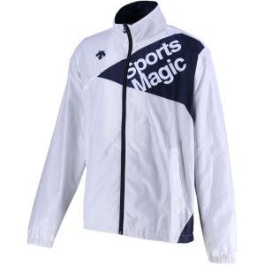 デサント(DESCENTE) ウィンドブレーカージャケット 裏起毛 男女兼用 ユニセックス DAT3865 ホワイト/ネ|spg-sports