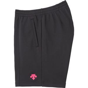 デサント(DESCENTE) バレーボール用 クォーターパンツ 男女兼用 DSP1600 ブラック/ピンク|spg-sports