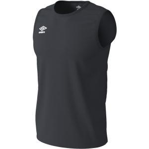 UMBRO アンブロ WR ワンポイント ノースリーブ クルーシャツ メンズ サッカー・フットサル UMUPJA66 ブラ|spg-sports