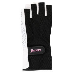 SRIXON スリクソン レディース シリコンプリントグローブ ハーフタイプ(両手セット) SGG2560 ブラツク