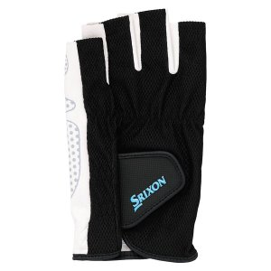 SRIXON スリクソン メンズ シリコンプリントグローブ ハーフタイプ(両手セット) SGG2590 ブラツク