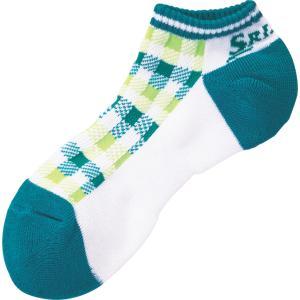 SRIXON スリクソン 【レディース テニス用靴下】 アンクルソックス SPO6718W WHターコイズ|spg-sports