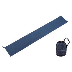 エバニュー(Evernew) バブルウィーブタオル 20×120 EBY404 ブルー|spg-sports