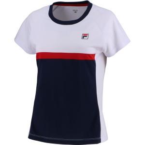 FILA フィラ ウィメンズ ゲームシャツ レディース テニスウェア VL7500 ホワイト|spg-sports