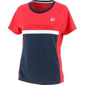 FILA フィラ ウィメンズ ゲームシャツ レディース テニスウェア VL7500 フィラレッド|spg-sports