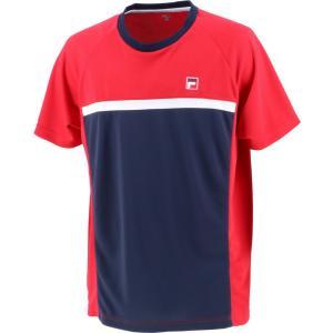 FILA フィラ ゲームシャツ メンズ テニスウェア VM7002 フィラレッド|spg-sports